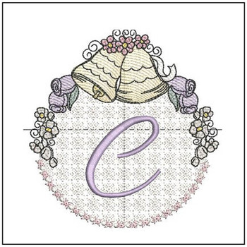 Joyful Bells Font - C - Embroidery Designs