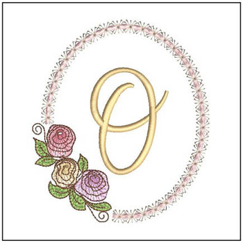 Rosabella Font ABCs - O - Embroidery Designs