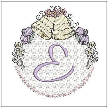 Joyful Bells Font - E - Embroidery Designs