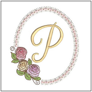 "Rosabella P - Fits into a 5x7"" Hoop - Instant Downloadable Machine Embroidery"