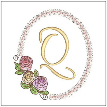 "Rosabella Q - Fits into a 5x7"" Hoop - Instant Downloadable Machine Embroidery"