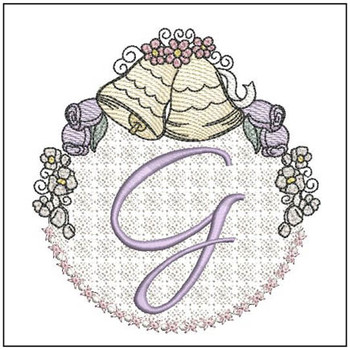 Joyful Bells Font - G - Embroidery Designs