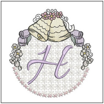 Joyful Bells Font - H - Embroidery Designs