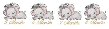 Sleeping Ellie Monthly Milestones 5-8 - Embroidery Designs