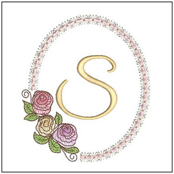 "Rosabella S - Fits into a 5x7"" Hoop - Instant Downloadable Machine Embroidery"