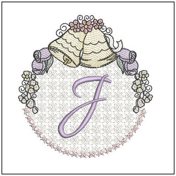 Joyful Bells Font - J - Embroidery Designs