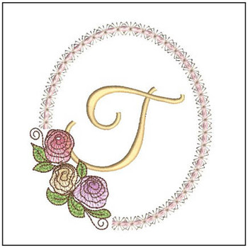 Rosabella Font ABCs - T - Embroidery Designs