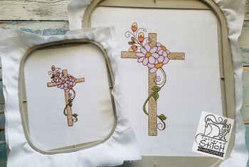 """Spring Cross - 4x4, 5x7 and 8x8"""" Hoop Sizes - Instant Downloadable Machine Embroidery"""