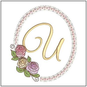 Rosabella Font ABCs - U - Embroidery Designs