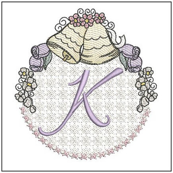 Joyful Bells Font - K - Embroidery Designs