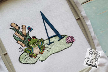 Loungin Lily Pad - A - Embroidery Designs