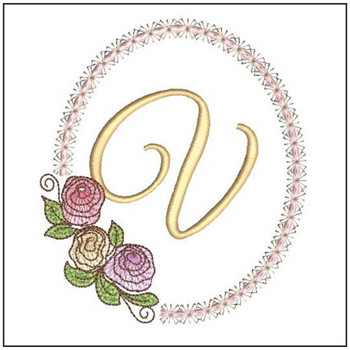 "Rosabella V - Fits into a 5x7"" Hoop - Instant Downloadable Machine Embroidery"