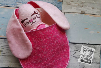 """Bunny Stuffie Blanket - Fits a 6 by 11"""" Hoop  - Instant Downloadable Machine Embroidery"""