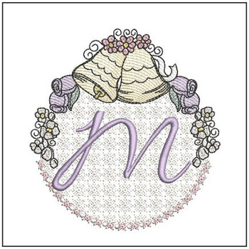 Joyful Bells Font - M - Embroidery Designs