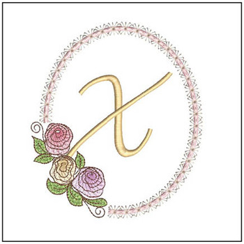 Rosabella Font ABCs - X - Embroidery Designs