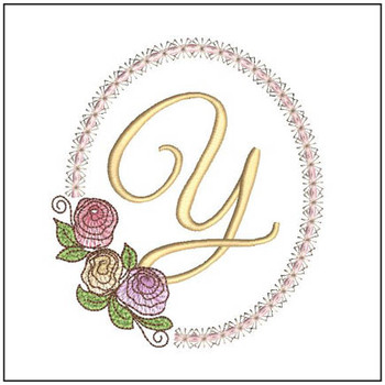 Rosabella Font ABCs - Y - Embroidery Designs