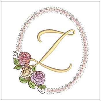 "Rosabella Z - Fits into a 5x7"" Hoop - Instant Downloadable Machine Embroidery"