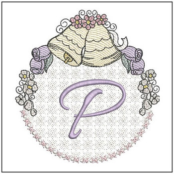 "Joyful Bells Font P - Fits into a 5x7"" Hoop - Instant Downloadable Machine Embroidery"