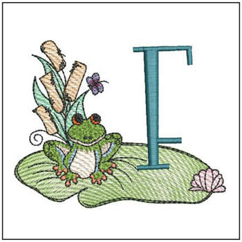 Loungin Lily Pad - F - Embroidery Designs