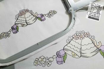 "Wedding Bells Border - 5x7 and 8x12"" Hoop Sizes - Instant Downloadable Machine Embroidery"
