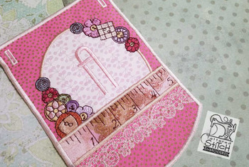 "Notions Sewing Bunting - Bundle- Letters -A-E - Fits a 5 by 7"" Hoop - Instant Downloadable Machine Embroidery"