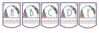 """Notions Sewing Bunting - Bundle- Letters -A-E - Fits a 5 by 7"""" Hoop - Instant Downloadable Machine Embroidery"""