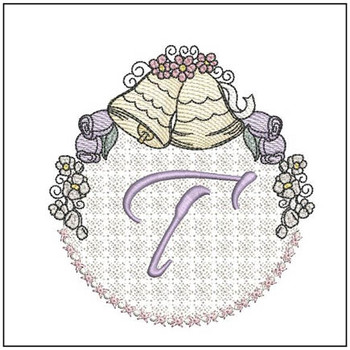 Joyful Bells Font - T - Embroidery Designs