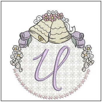 Joyful Bells Font - U - Embroidery Designs