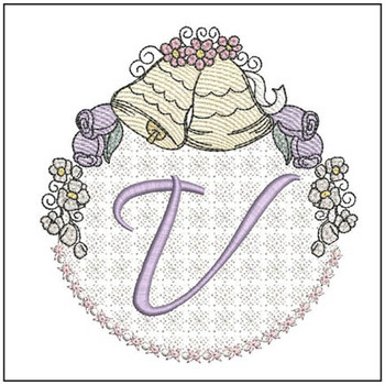 Joyful Bells Font - V - Embroidery Designs