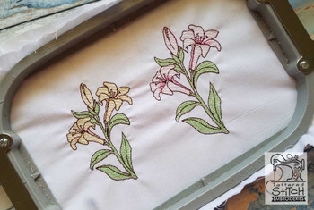 """Easter Lily - 4x4 and 5x7"""" Hoop Sizes - Instant Downloadable Machine Embroidery"""