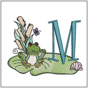 "Loungin Lily Pad - M - Fits in a 4x4"" Hoop - Instant Downloadable Machine Embroidery"