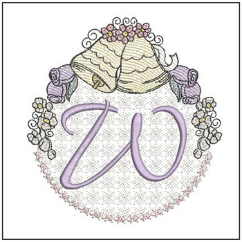 Joyful Bells Font - W - Embroidery Designs