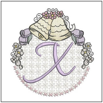 Joyful Bells Font - X - Embroidery Designs