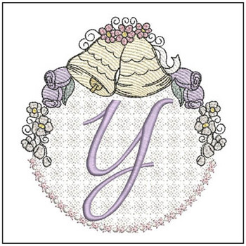 Joyful Bells Font - Y - Embroidery Designs