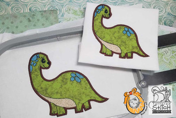 "Baby Dinosaur Applique - 4x4 & 5x7 "" Hoop Size - Instant Downloadable Machine Embroidery"