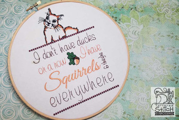 "Squirrels Everywhere - Fits a 5x7 & 6x11 "" Hoop Size - Instant Downloadable Machine Embroidery"