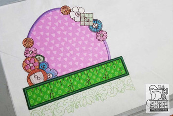 "Notions Applique - Fits a 5x7 & 7x12 "" Hoop Size - Instant Downloadable Machine Embroidery"