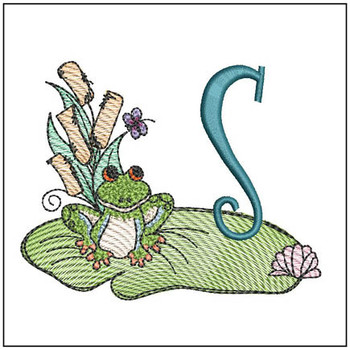 "Loungin Lily Pad - S - Fits in a 4x4"" Hoop - Instant Downloadable Machine Embroidery"