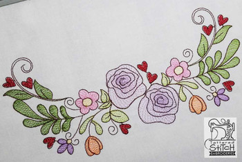 Spring Floral Swag - Embroidery Designs