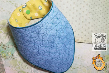 """Boomerang Bib - Uses a 5x7 and 8x12"""" Hoop - Instant Downloadable Machine Embroidery"""