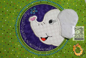 "Sweet Ellie Applique - Uses a 4x4"" 5x7 and 7x11"" Hoop - Instant Downloadable Machine Embroidery"