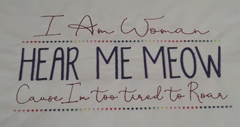 "I am Woman - Fits a 5x7 _ 6x11"" Hoop Size - Instant Downloadable Machine Embroidery"