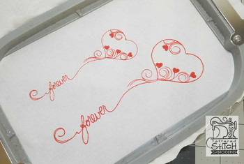 """Forever Heart - Fits a 5x7"""" Hoop Size - Instant Downloadable Machine Embroidery"""