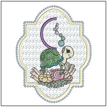Turtle On Shells ABCs - C - Embroidery Designs
