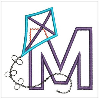 Flying High Kite Applique Font - M-Embroidery Designs