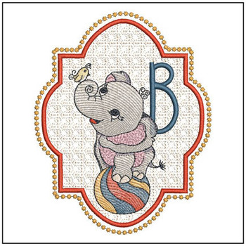 Circus Ellie ABC's - B - Embroidery Design