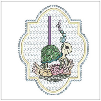 Turtle On Shells ABCs - I - Embroidery Designs