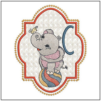 Circus Ellie ABC's - C - Embroidery Design