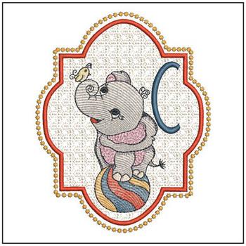 Circus Ellie ABC's - C - Embroidery Design