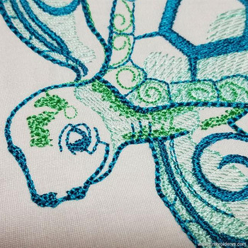 Noble & Wise Sea Turtle - Embroidery Designs